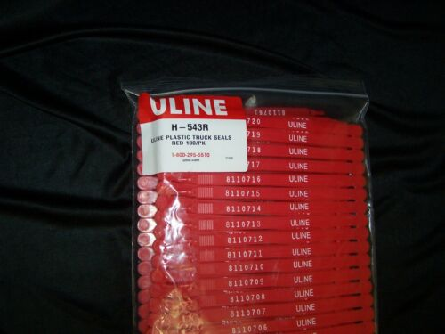 Silver 100 Count Uline Style Metal Truck Seals