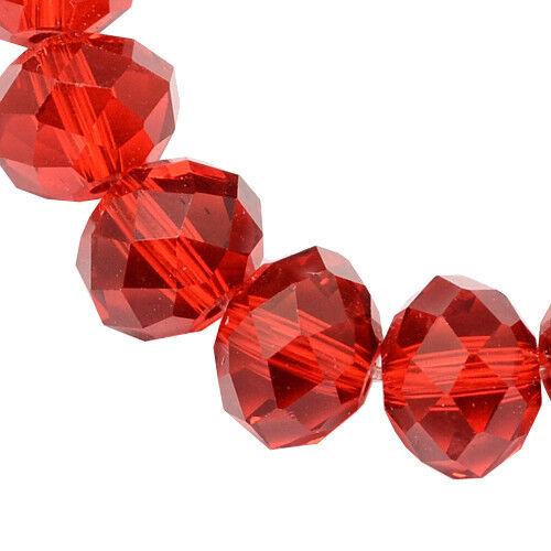 25 checa vaso de cristal perlas de vidrio 6mm fuego esmerilado pulido Best x189