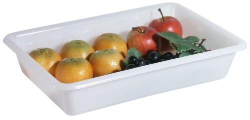 Aufbewahrungsschale aus weißem Polyethylen stapelbar Obstschale Gemüseschale