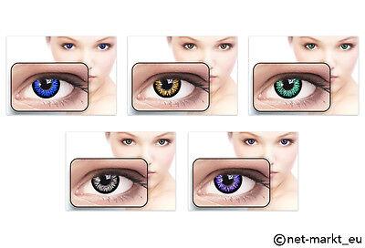 Sexy Farbige Kontaktlinsen Blau Honig Grün Grau Violett  - PROMOTION !!!