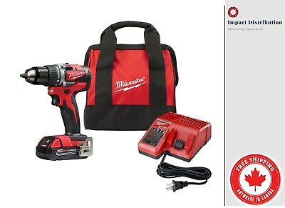 Milwaukee M18 2801-21CT 18-Volt 1/2-Inch 2.0 Battery Brushless Drill Driver Kit
