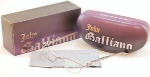 Autentico-John-Galliano-Gafas-Armazon-jg5007-057-Metal-Plastico-PLATA-ITALIA