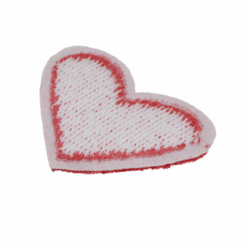 10x DIY Red Heart Embroidered Iron On Patch Sewing Fabric Clothings Applique