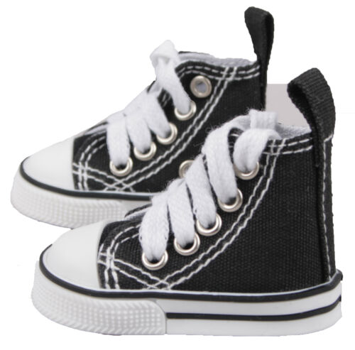 PF For 1//4 MSD DZ AOD BJD Dollfie  Black Mid-Cut Canvas Shoes Sneaker 6CM