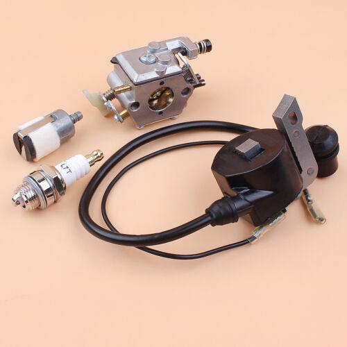 Carburetor Ignition Coil Spark Plug Kit For Husqvarna 50 51 55 Rancher Chainsaw