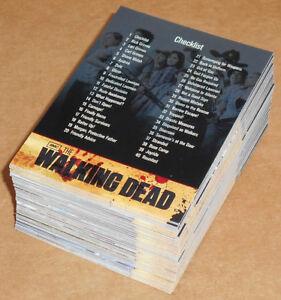 Walking-Dead-Season-1-COMPLETE-81-CARD-BASE-SET-Cryptozoic-2011