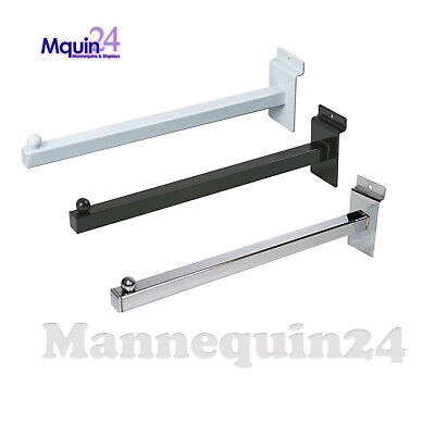Chrome Heavy Duty Clothing Hanger 2 Pack 12 Wall Mount Straight Square Tube Faceout Hook