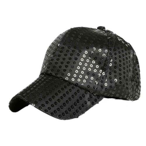 Fashion Women Girls Ponytail Baseball Cap Sequins Shiny Messy Bun Snapback Hat