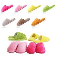 Damen Herren Winter Hausschuhe Warm Schuhe 37-45 Kaffee Braun Pink Rosa Grau Neu