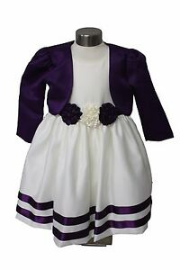 23b7b367103d Visara Flower Girls Cadbury Purple Ivory Rosebud Dress with Bolero ...