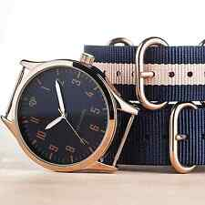 MENS 40MM YVES CAMANI UNISSON 2 NATO STRAP ROSE GOLD WATCH NEW RRP £139