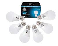 LESON LED Light Bulbs E26 A19 110V 75W Equivalent 1180lm 9W Daylight (6 pack)