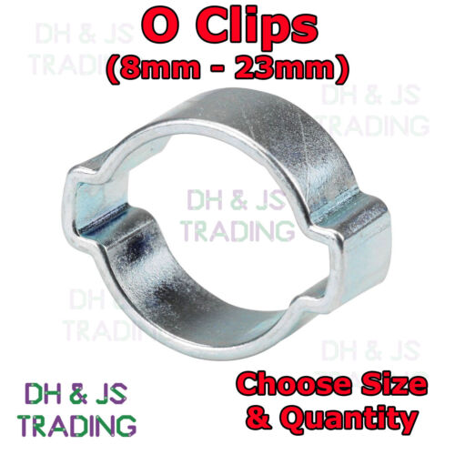 Crimp O Clip Air Silicone Petrol Water Fuel Hose Pipe DOUBLE EAR CLAMP O CLIPS