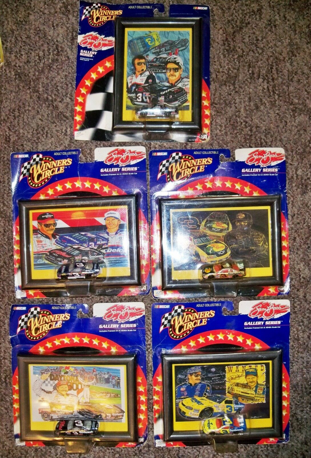 5 New Winner's Circle NASCAR Race Cars & Pictures Pictures Pictures as shown - Earnhardt 29c292