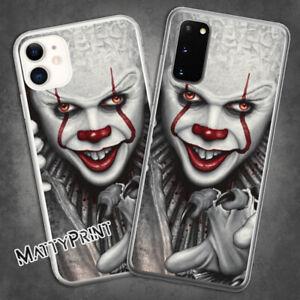 Cover personalizzata It il pagliaccio Pennywise Horror film custodia Smartphone