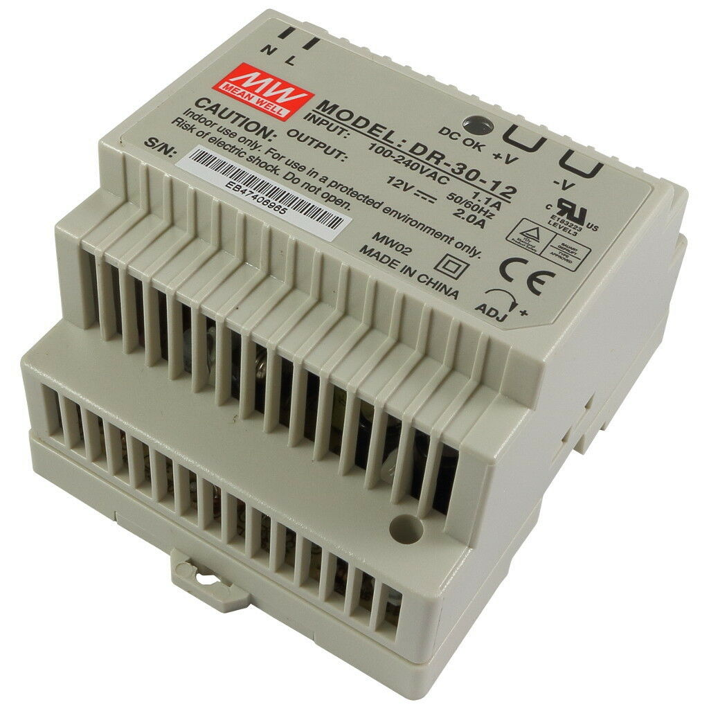 MeanWell MeanWell MeanWell dr-30-12 Boutons Bloc d'alimentation 24 W 12 V 2000 mA 2 a din rail power supply 855867 8aad2e