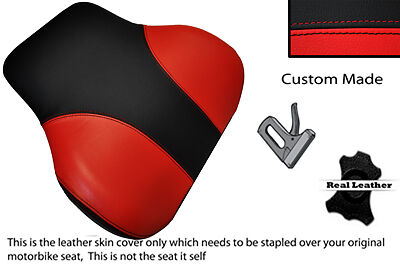 BLACK /& RED CUSTOM FITS BMW C1 125 200 BACKREST LEATHER SEAT COVER