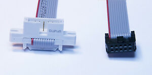 10 Pin IDC Ribbon Cable Plug to Socket 2 x 5 way connectors 1M to 2M Length