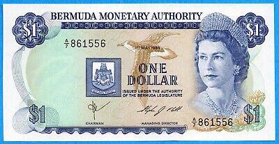 World Banknotes Bermuda 1984 1 Dollar P28b.4 UNC Prefix A//7