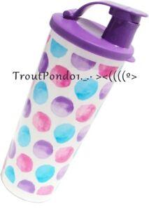 Tupperware 16 oz Tall Iced Tea Tumbler Sweet N Sassy Flowers w// Flip Top Seal