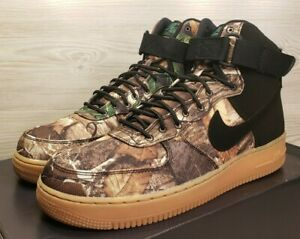 Nike Air Force 1 High '07 LV8 3 Realtree Brown Camo Black AO2410 001 Mens Shoes