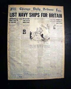 LEND-LEASE-Program-Franklin-D-Roosevelt-FDR-SIGNS-INTO-LAW-1941-WWII-Newspaper