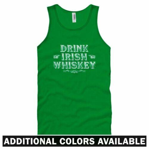 Men Women XS-2X Drink Irish Whiskey Unisex Tank Top Ireland Shots Gift Bar