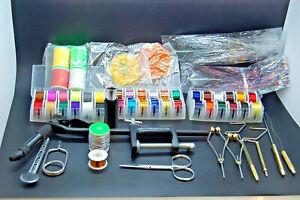 Bobbin Fly Tying Tools Set Bodkin Hackle Whip Thread Vise Mylar Wire