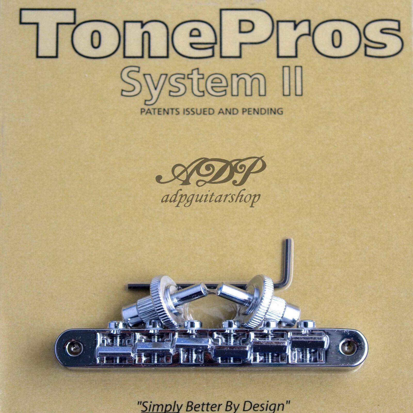 Tonepros NVR2-C Br im Kombibereich 65533; cke Vintage Fits Nashville Abr-Schmal Tune-O-Matic Bridge C