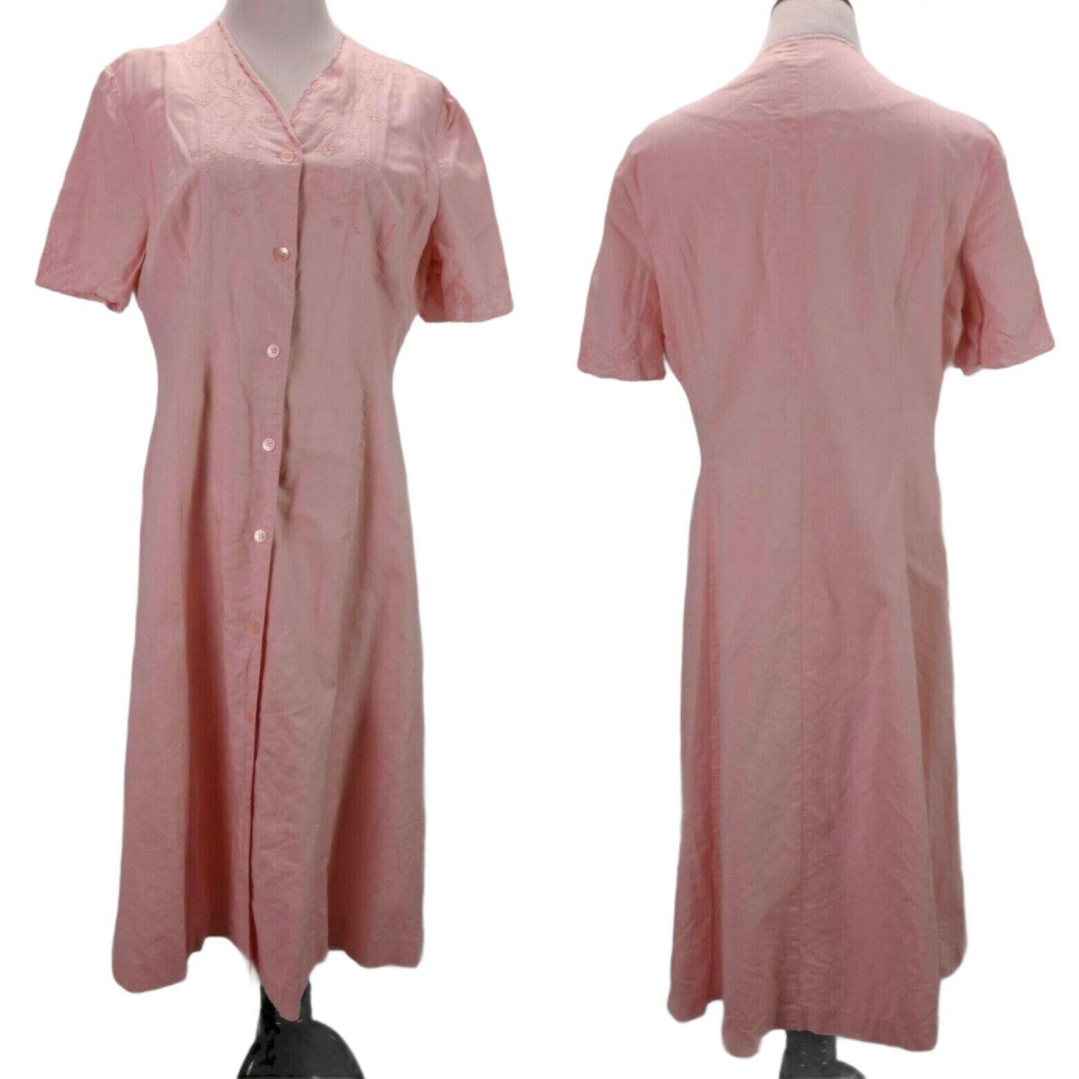 Vintage Laura Ashley Linen Eyelet Dress Size 14 P… - image 1