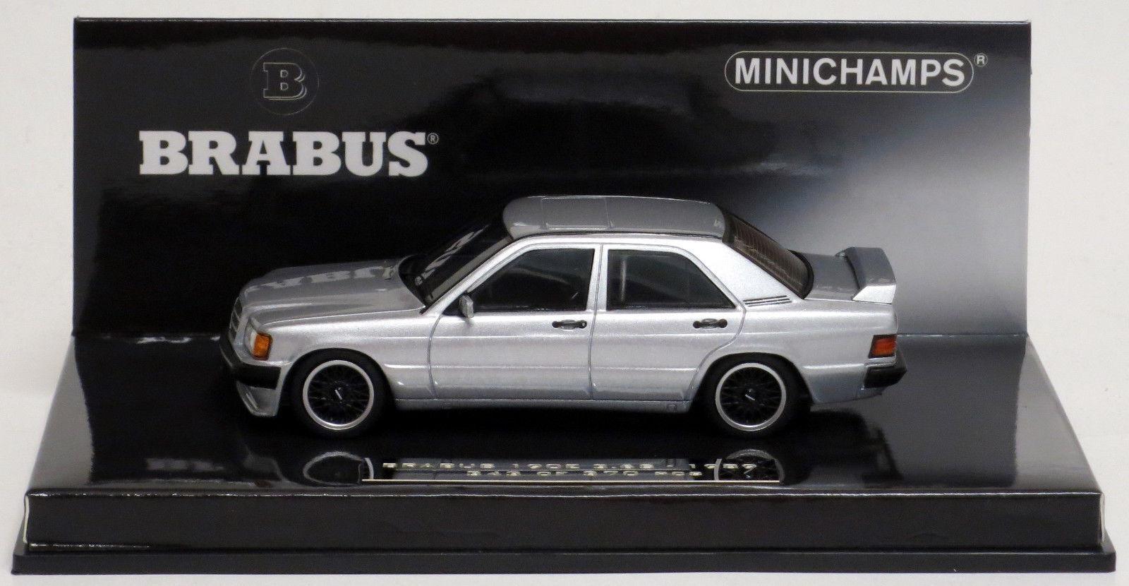 Minichamps 1989 Mercedes Benz 190e 3.6 S Brabus Plata 1 43 Nuevo artículo