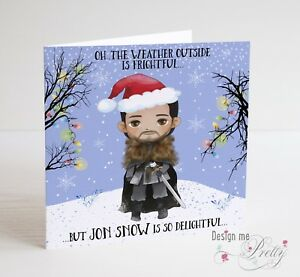 image is loading game of thrones jon snow christmas card wife - Christmas Card For Girlfriend