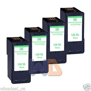 4-Black-Lexmark-32-Ink-Cartridge-For-X3330-X5250-X5450-X3350-X5270-X5470-Printer