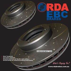 SUIT Subaru WRX  SLOTTED BRAKE DISCS Turbo FORESTER Front 277MM  94 to 12/97 RDA