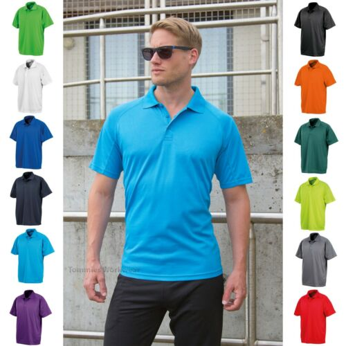 Men/'s Performance Air Cool Polo Shirt Breathable Stretch Quick Dry T-Shirt Tee