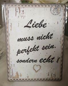 Bild-Wandbild-Liebe-muss-nicht-19cm-Shabby-Chic-Deko-Landhaus