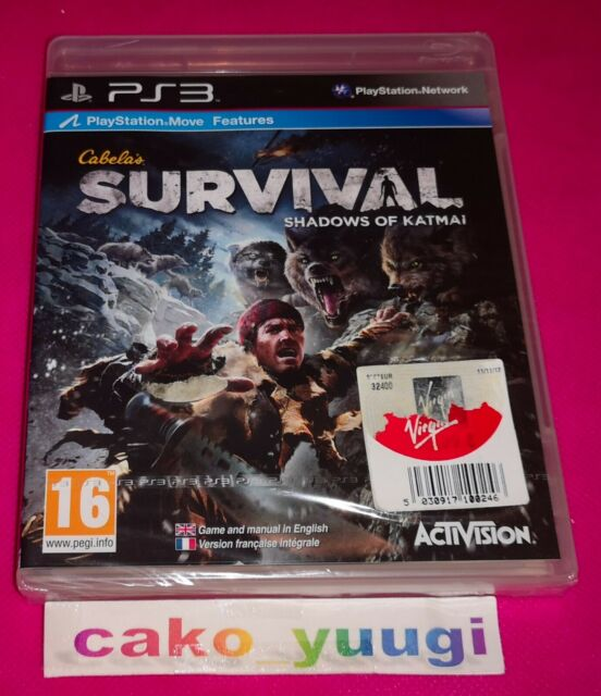 CABELA'S SURVIVAL SHADOWS OF KATMAI  PS3 VERSION FR NEUF BLISTER ABIME