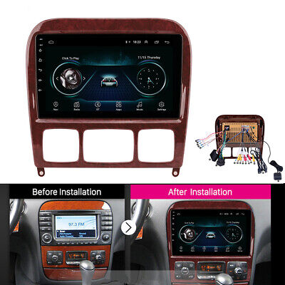 Android 8.1 Radio Stereo GPS FM For 98-05 Mercedes S 280 320 350 400 430 500 600