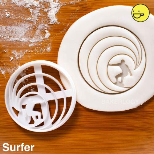 Surfer cookie cuttersurfing surfers beach waves water sports gift world surf