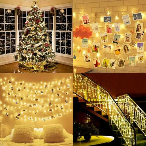 Details about  /Donroyj Photo Clip String Lights Led Usb Battery Operated 2,5,10m Outdoor Indoor