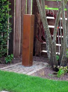 Stelen Granit Stelen Metall Sichtschutz Stelen Granit Stelen Garten 1100-350-D