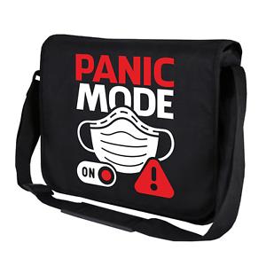 PANIC-MODE-ON-Maske-Schutz-Comedy-Fun-Sprueche-Spass-Umhaengetasche-Messenger-Bag