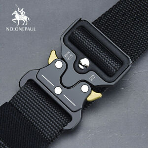 NO-ONEPAUL-Tactical-belt-Military-high-quality-Nylon-men-039-s-training-belt-metal