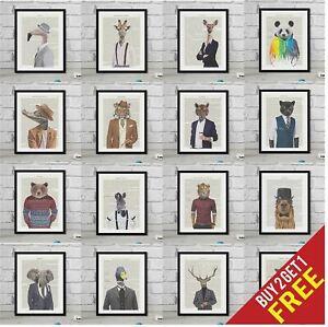 Hipster-Animal-Prints-sur-Real-vintage-Dictionnaire-Livre-page-encadree-art-cadeau