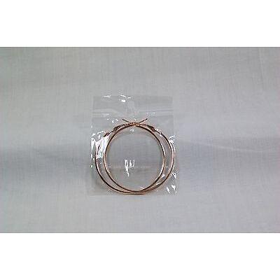 Steel Hoop Hinged Earrings Assorted Colors & Sizes You Pick *New*