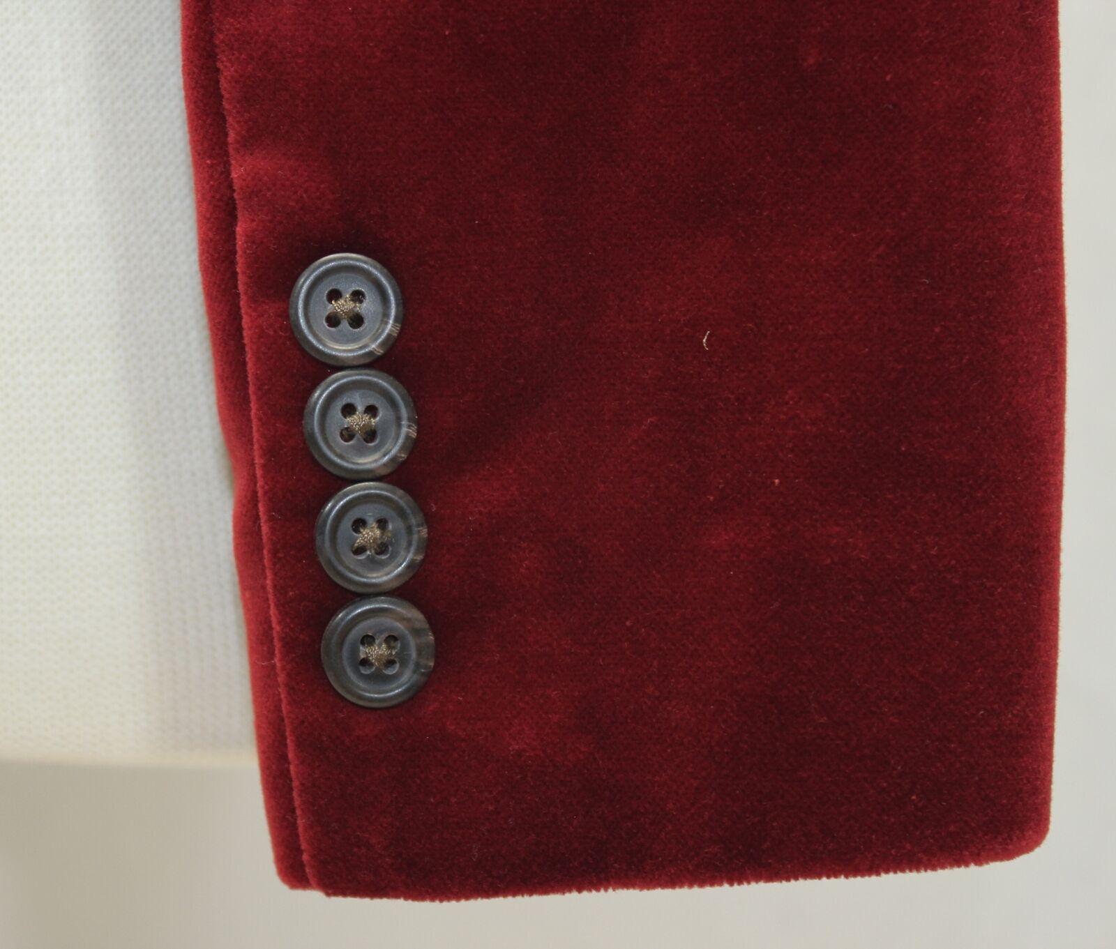 Ralph Lauren Red Velvet Blazer Jacket Size 10 - image 8