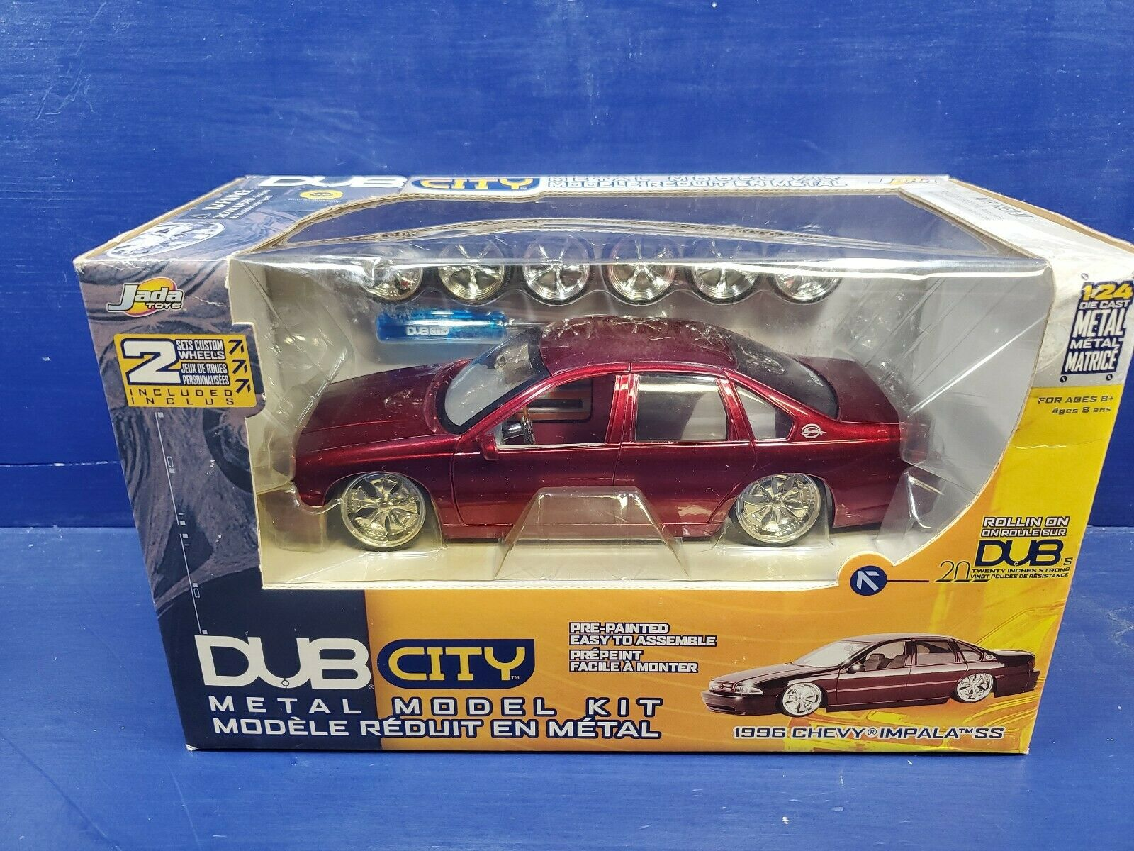 Jada Dub City 1 24 Scale Model Kit - 1996 Chevrolet Impala SS - rot