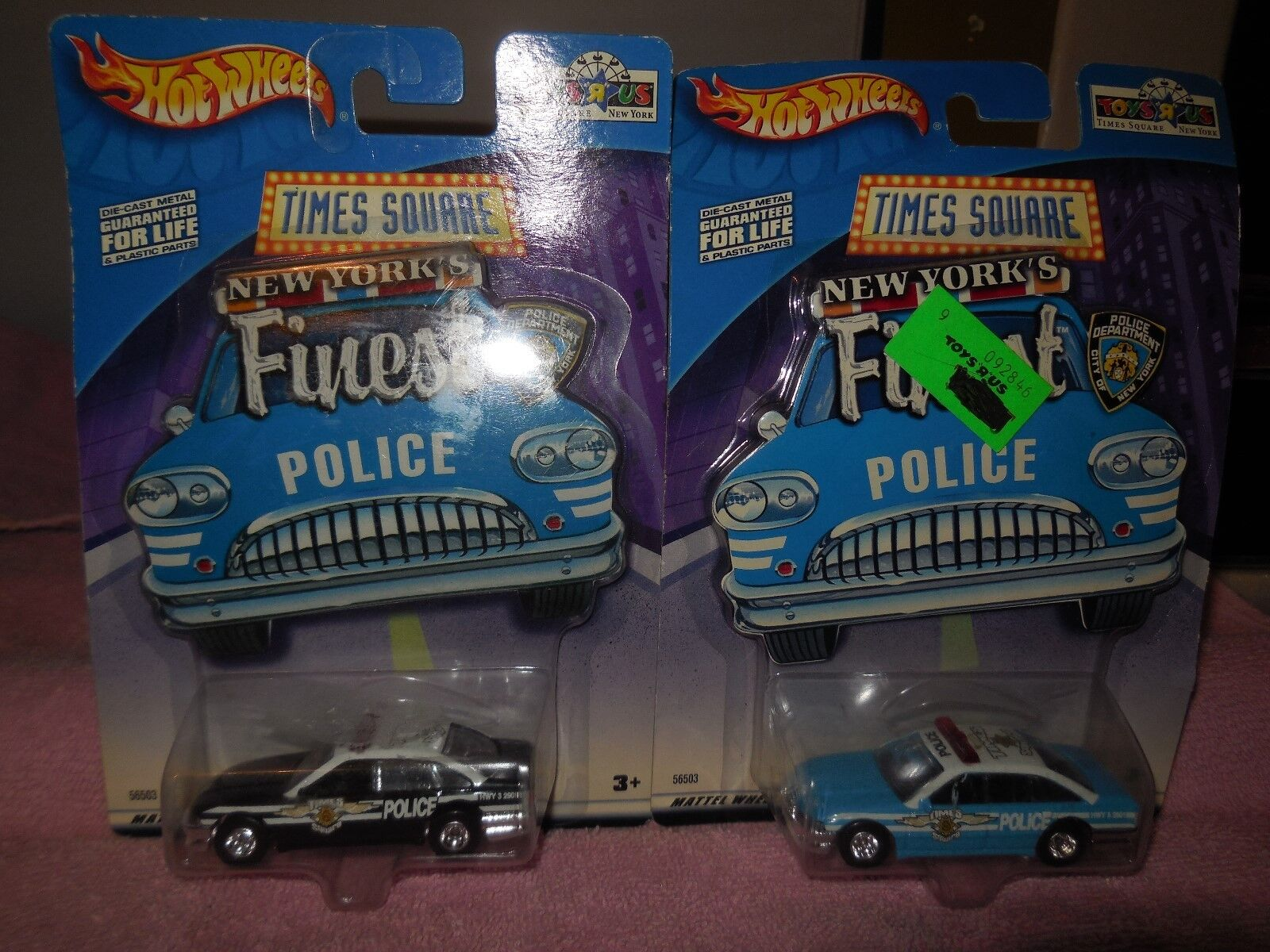 2 2002 times square new yorks finest police cars made by hot wheels