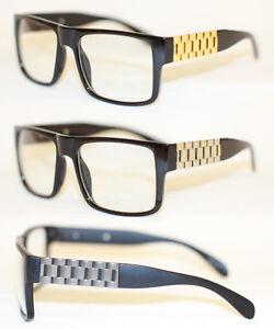 Lunettes Gold Lunettes de Noir Geek Nerd 995 Gold de Link Cuban Argentées Mode Bwqwv4Yg