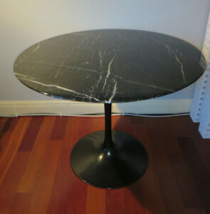 Eero Saarinen For Knoll 35 Black Marble Tulip Dining Table Signed Ebay